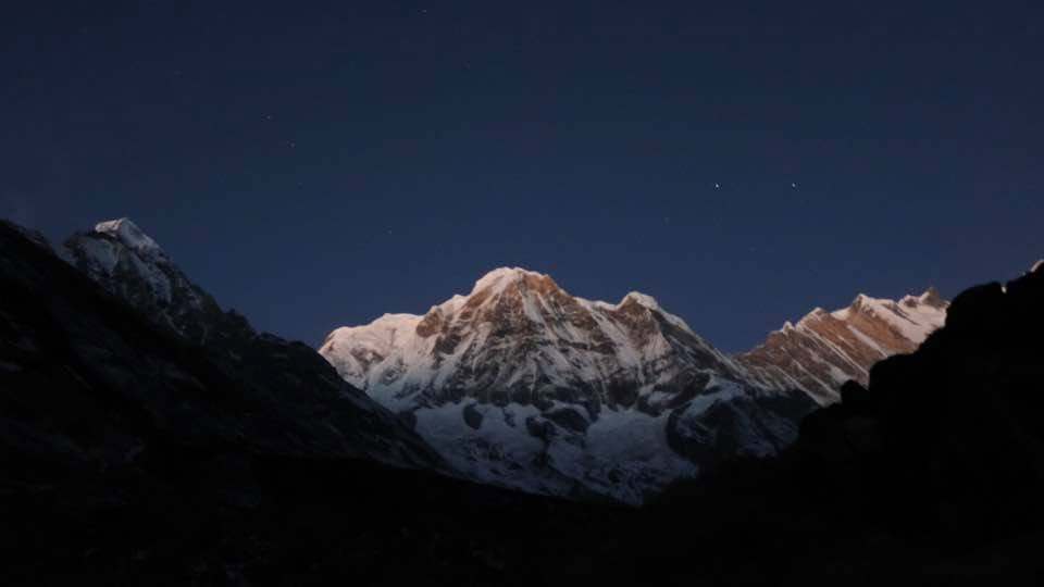 Annapurna at night