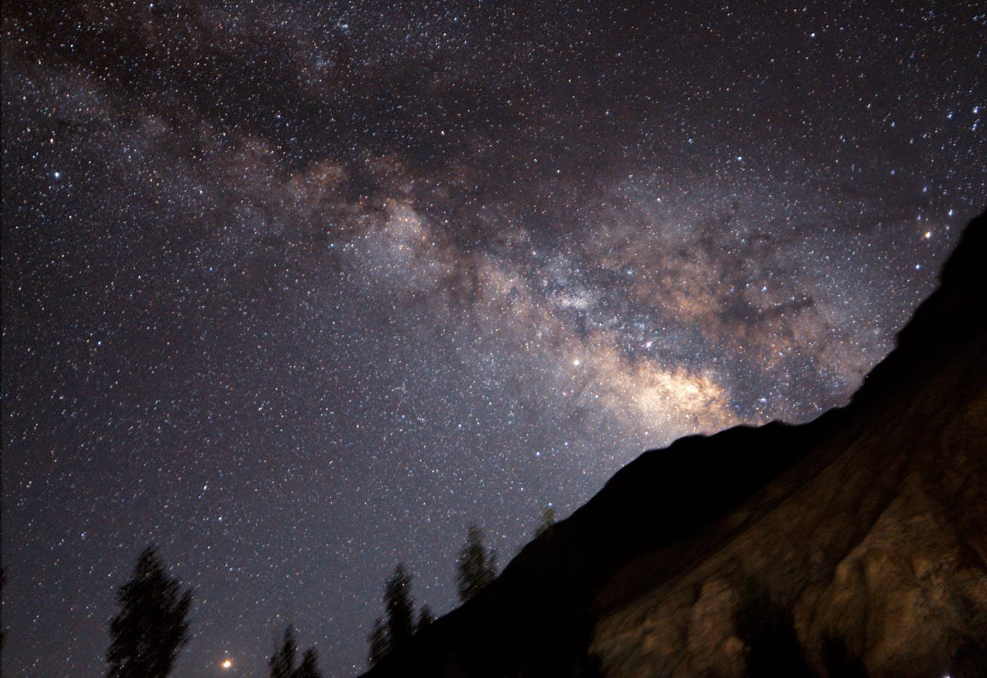 Milky Way behind a mountain